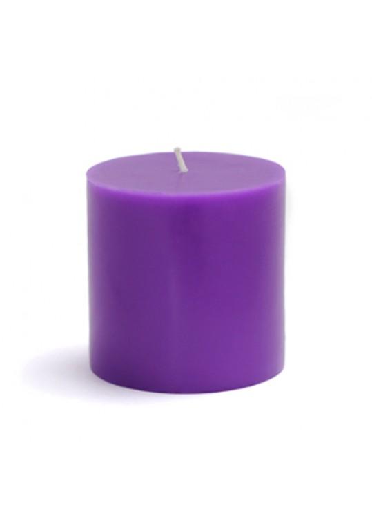 "3 x 3"" Purple Pillar Candles (12pcs/Case) Bulk"