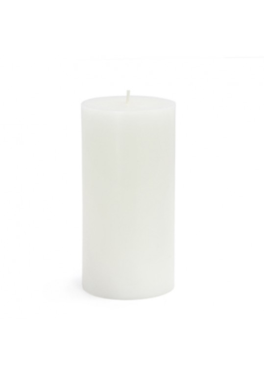 "3 x 6"" White Pillar Candles(12pcs/Case) Bulk"