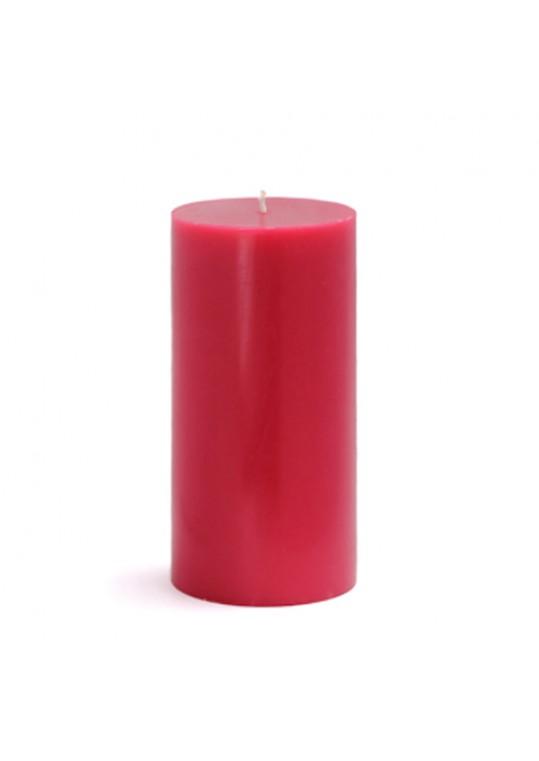 "3 x 6"" Red Pillar Candles(12pcs/Case) Bulk"