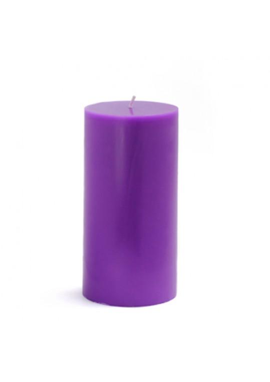 3 x 6 Inch Purple Pillar Candles(12pcs/Case) Bulk
