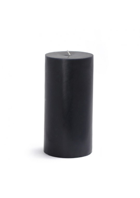 3 x 6 Inch Black Pillar Candles(12pcs/Case) Bulk