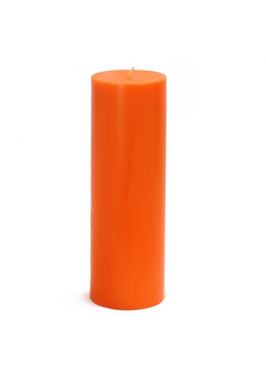 3 x 9 Inch Orange Pillar Candles (12pcs/Case) Bulk