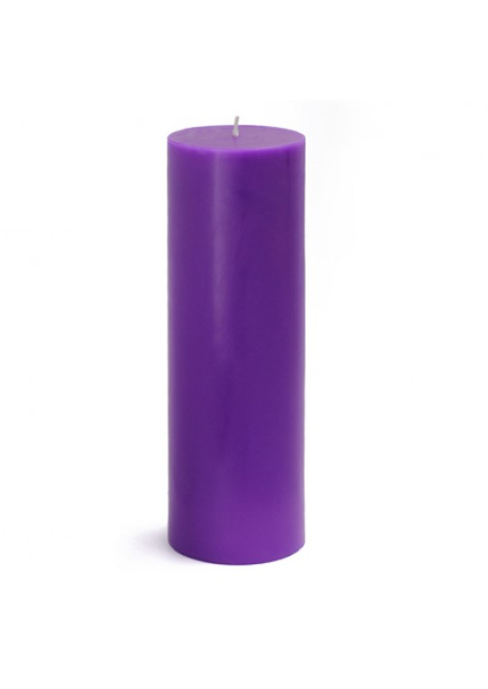 3 x 9 Inch Purple Pillar Candles (12pcs/Case) Bulk