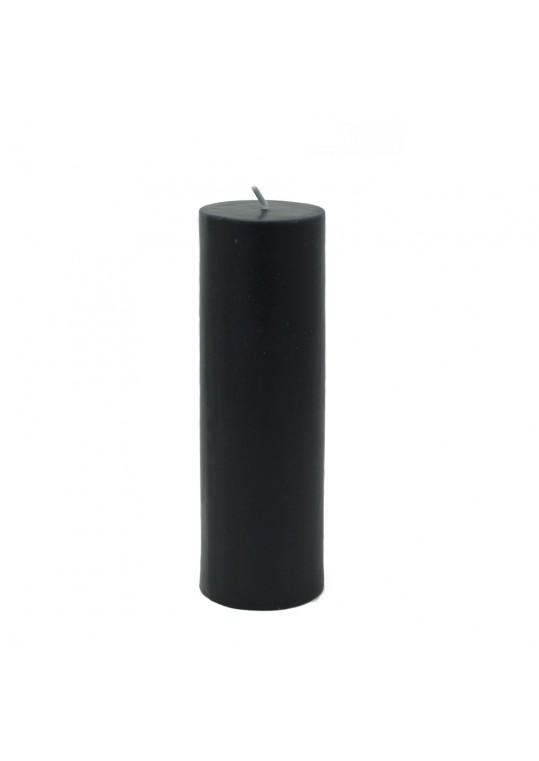 2 x 6 Inch Black Pillar Candle (24pcs/Case) Bulk