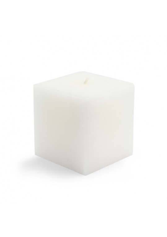 "3 x 3"" White Square Pillar Candles (12pcs/Case) Bulk"