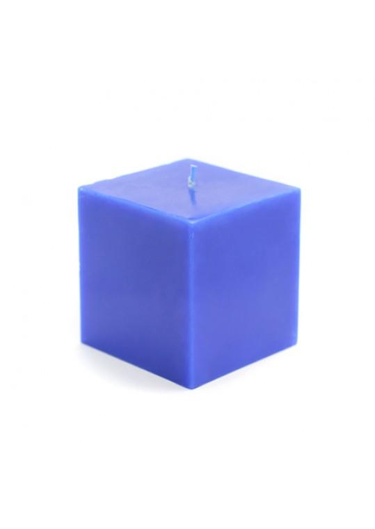 "3 x 3"" Blue Square Pillar Candles (12pcs/Case) Bulk"