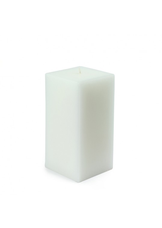 3 x 6 Inch White Square Pillar Candle  (12pcs/Case) Bulk