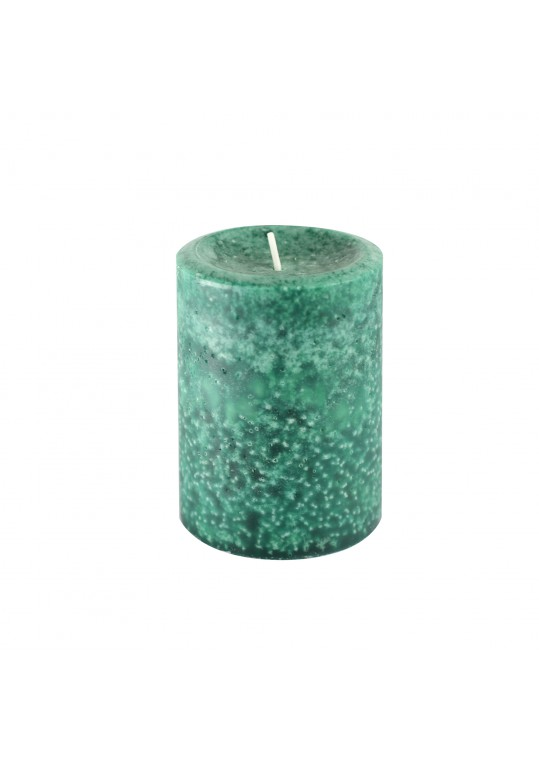 3 Inch x 4 Inch Fresh Frasier Fir Green Scented Pillar Candle