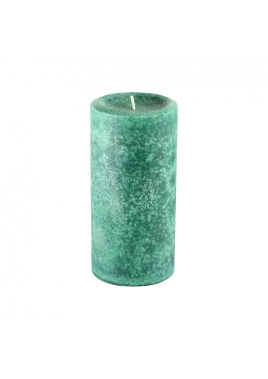 3 Inch x 6 Inch Fresh Frasier Fir Green Scented Pillar Candle