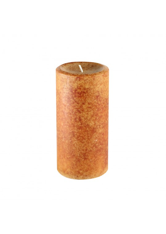 "3"" x 6"" Rain Lissed Oak Leaf Brown  Scented Pillar Candle"
