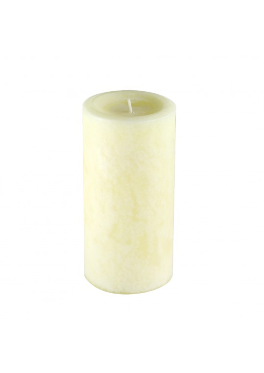 3 Inch x 6 Inch Ivory Vanilla Scented Pillar Candle