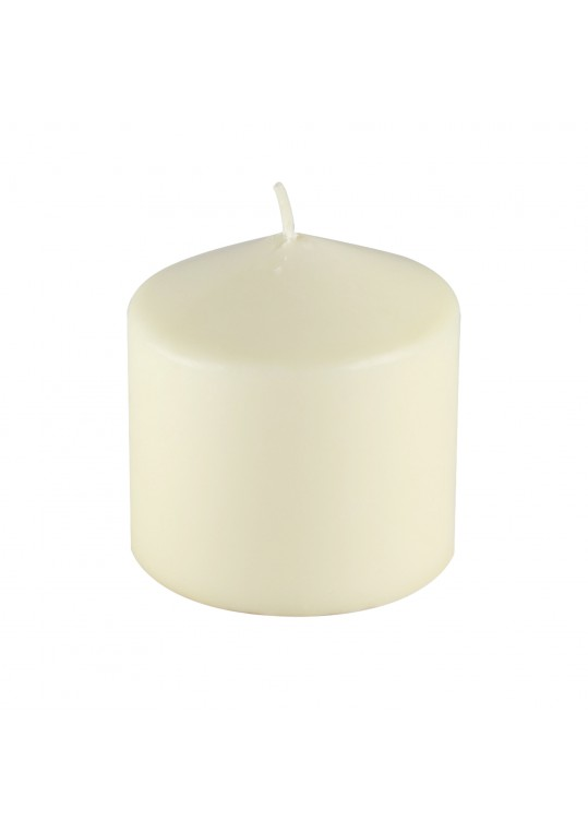 3 x 3 Inch Ivory Pressed and Over-Dipped Pillar Candle (12pcs/Case)