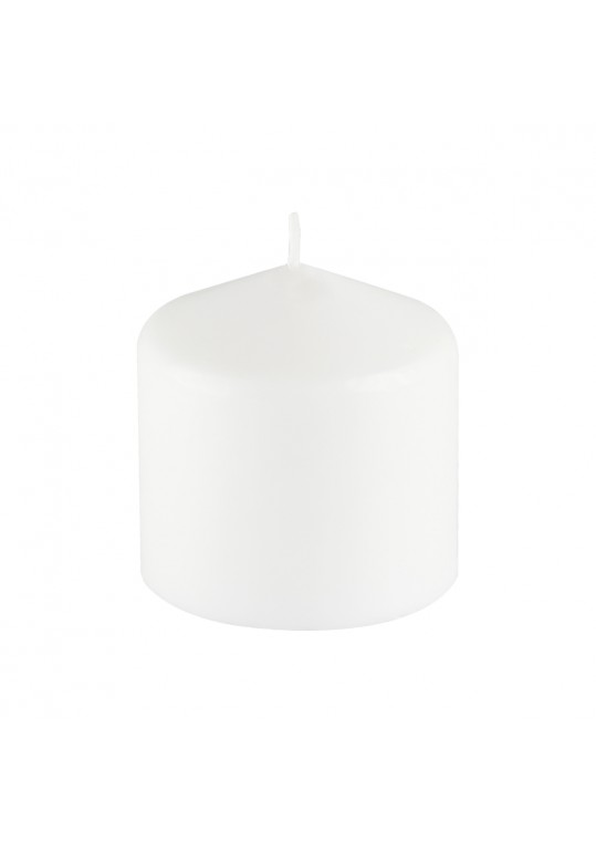 3 Inchx 3 Inch White Pressed and Over-Dipped Pillar Candle (12pcs/Case)