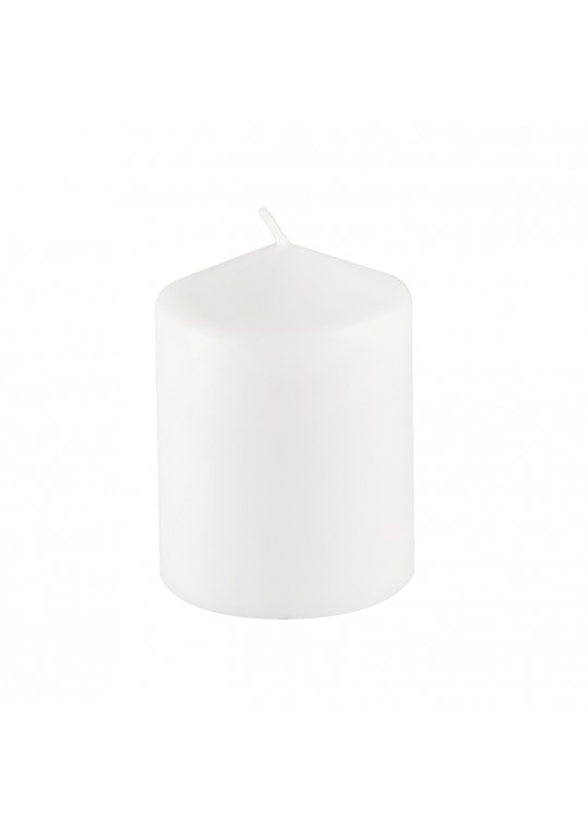 3Pack 3 Inchx 4 Inch White Pressed and Over-Dipped Pillar Candles (12pcs/Case)
