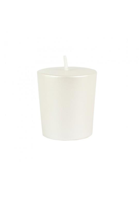 Pearl White Votive Candles (96pc/Case) Bulk