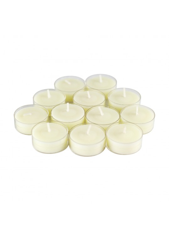 12pk Vanilla Scented Ivory Tealight Candles