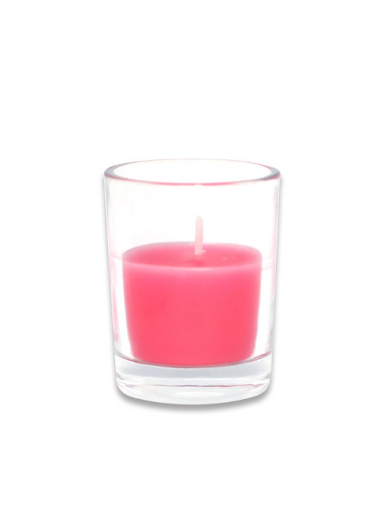 Hot Pink Round Glass Votive Candles (96pcs/Case) Bulk