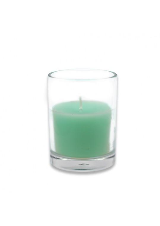 Aqua Round Glass Votive Candles (96pcs/Case) Bulk