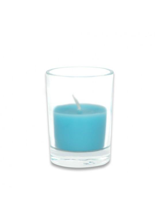Turquoise Round Glass Votive Candles (96pcs/Case) Bulk