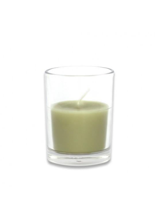 Sage Green Round Glass Votive Candles (96pcs/Case) Bulk