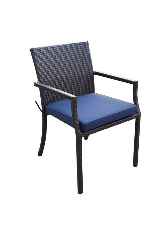 Midnight Blue Cafe Curved Stacking Chairs Cushion