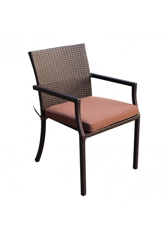 Brown Cafe Curved Stacking Chairs Cushion