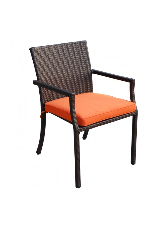 Orange Cafe Curved Stacking Chairs Cushion
