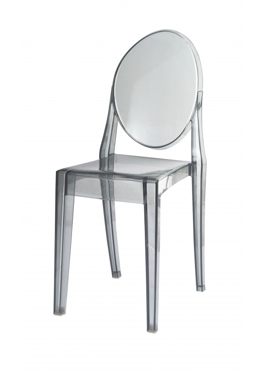 Clear Plastic Chair (Set of 2)