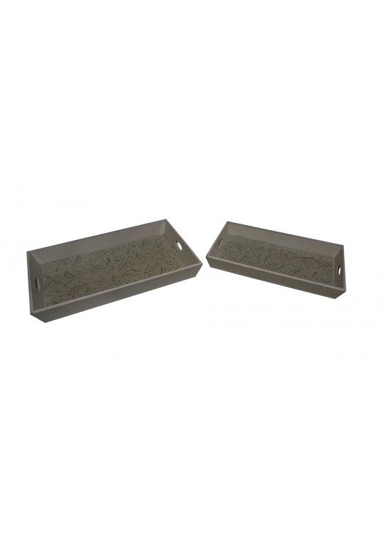 Mary Wood Tray-Set of 2