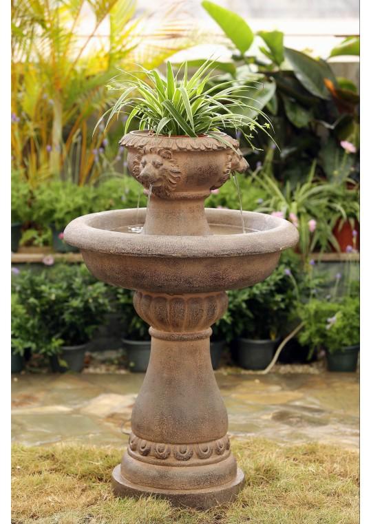 Multi Tiers Lion Head Garden Water Fountain