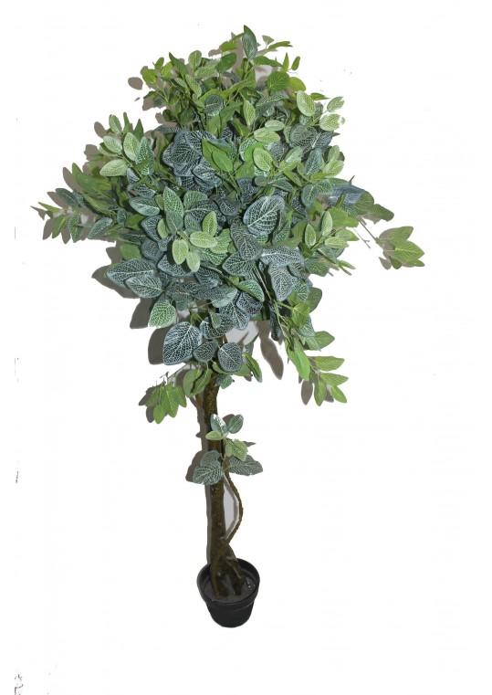 78 Inch White Net Shape Leaf Tree