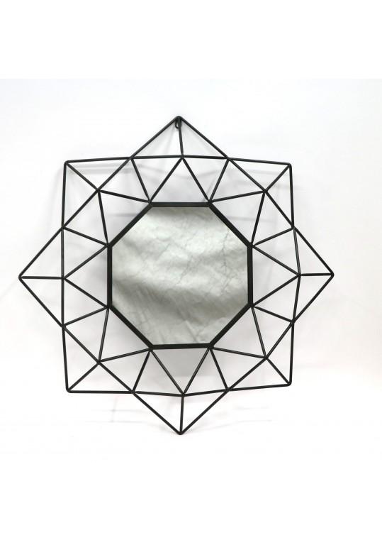 Metallic Octogonal Wall Mirror