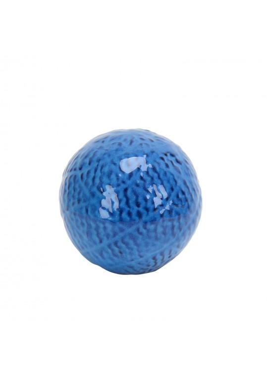 3.7 Inch Decorative Ceramic Spheres blue