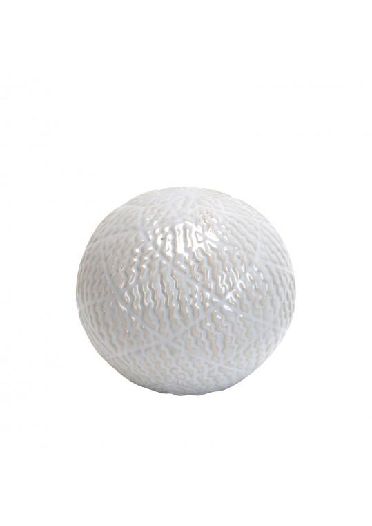 4.7 Inch Decorative Ceramic Spheres White
