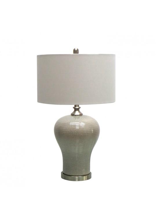 "28.5""H Ceramic Table Lamp with Metal Base"