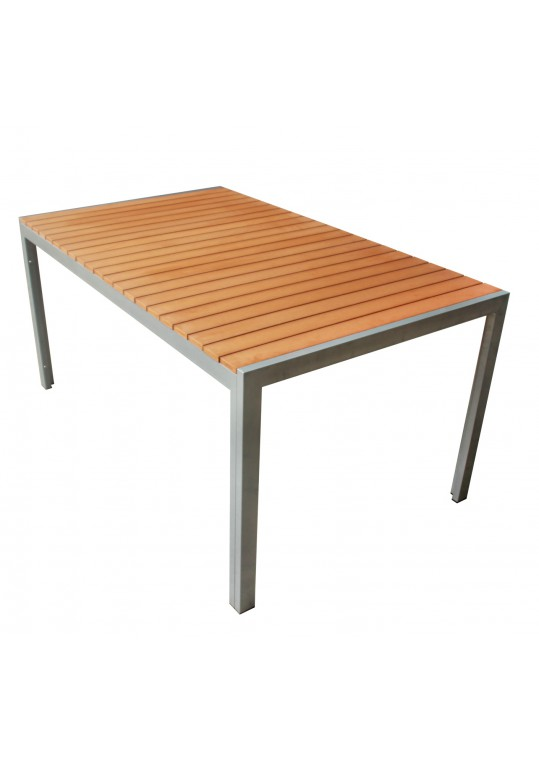 Yellow Faux Wood Table