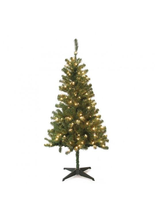 5FT Wood Trail Pine Pre Lit Artificial Christmas Tree