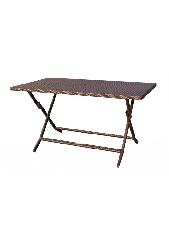 Cafe Folding Buffet Wicker Table